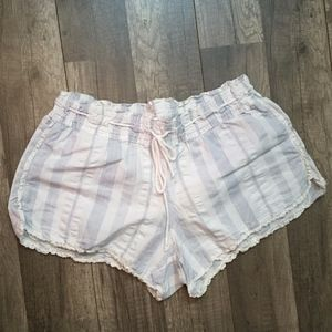 Victoria's Secret Blue/White Striped Sleep Shorts